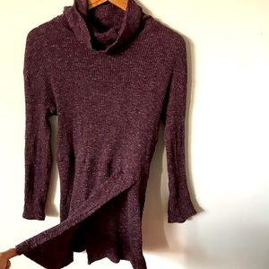 FREE PEOPLE tunic sweater ribbed mock neck dress